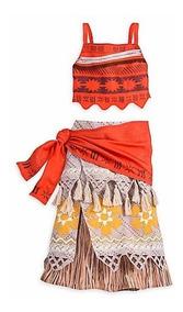 Disfraz Vestido Moana Disney Store Original Importado Usa