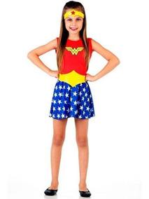 Disfraz Vestido Mujer Maravilla Clasico Original
