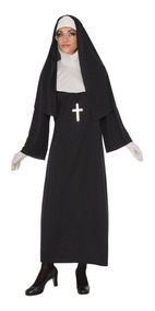 Disfraz Vestido Mujer Monja Talla M Monjita Hecho In Usa