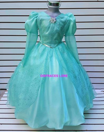 disfraz vestido princesa ariel la sirenita graduacion niña