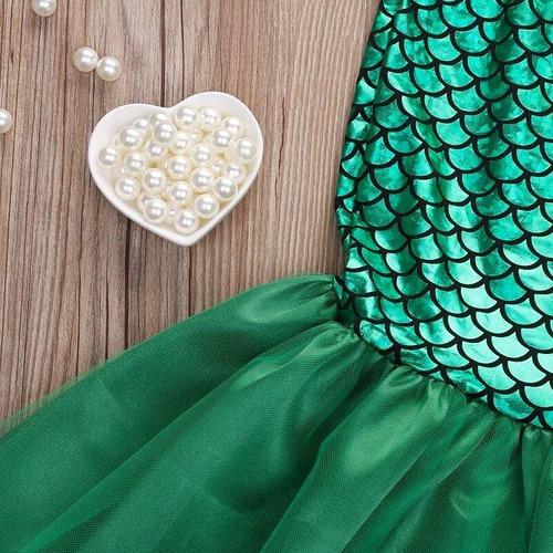 disfraz vestido princesa sirena sirenita ariel envío gratis