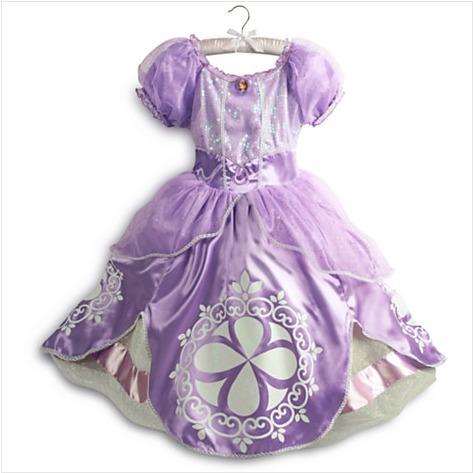 disfraz vestido  princesa sofia  t4 a0123 - a1268