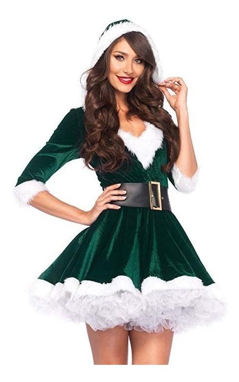 Disfraz Vestido Santa Claus Mujer Adulto Envio Gratis