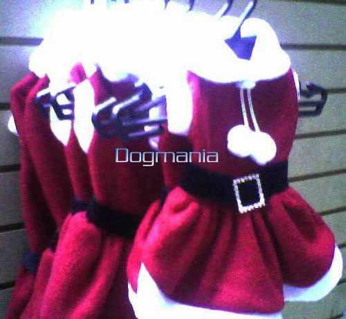 disfraz vestido santa claus talla 3 para perra navidad