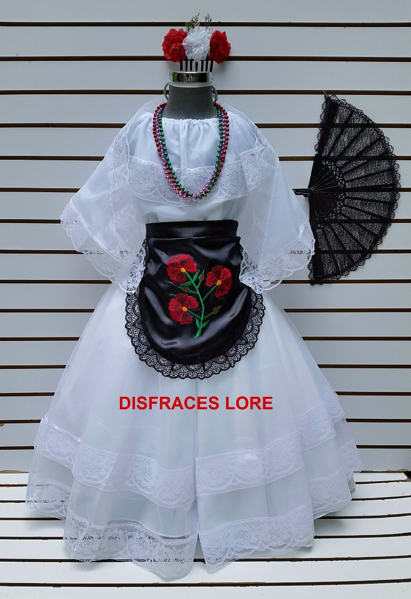 Disfraz Vestido Tipico Veracruz Adulto Veracruzana Jarocha