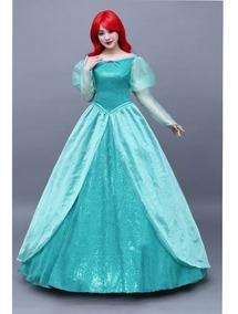Disfraz Vestido Traje Cosplay Princesa La Sirenita Ariel