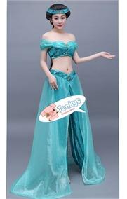 Disfraz Vestido Traje Princesa Jasmin Jasmine Jazmin Aladdin