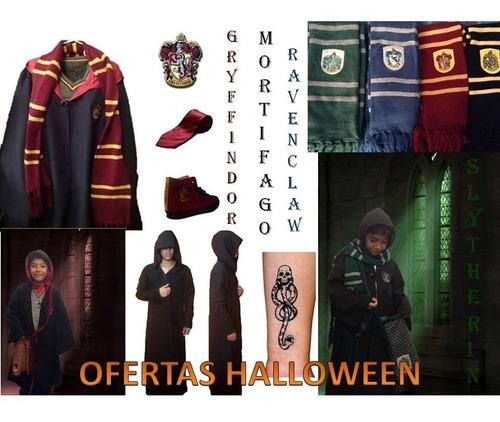 disfraz/capa/ harry potter/gryffindor/mortífago/halloween
