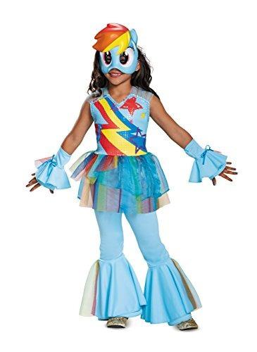 disguise rainbow dash movie deluxe  disfraz s 4-6x  azul