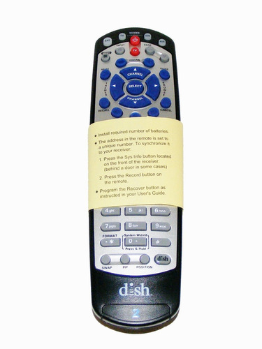 dish network 21.0 ir/uhf pro remote tv