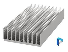 Disipador térmico de aluminio anodizado Negro LED grande 200 Mm x 100 Mm x 25 Mm