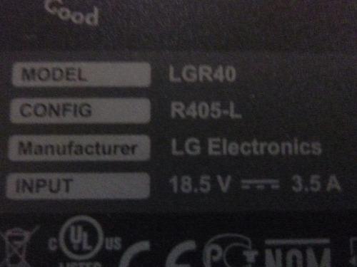 disipador de fan cooler para notebook  lg r405 lgr40