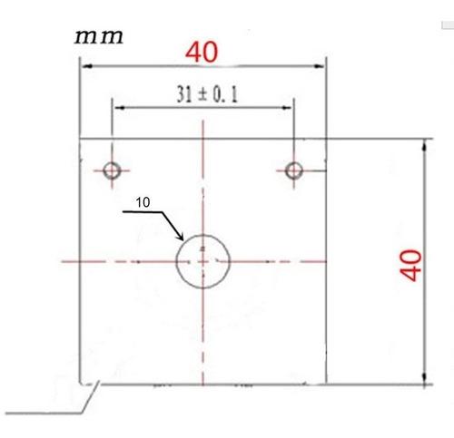 disipador rectangular mk8 extrusor nema 17 impresora 3d gold