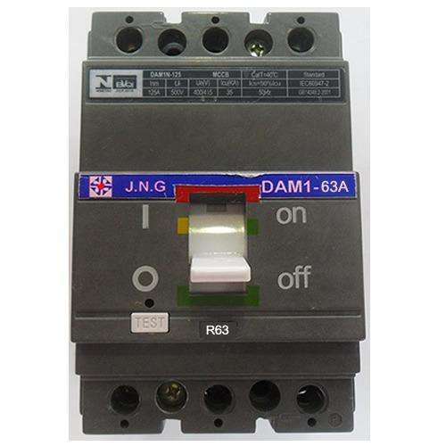 disjuntor em caixa moldada jng dam1-125n 63a