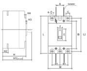 disjuntor em caixa moldada jng djm1-225l 125a