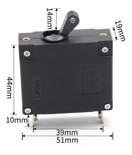 disjuntor magnético hidráulico único pólo 15a para barco