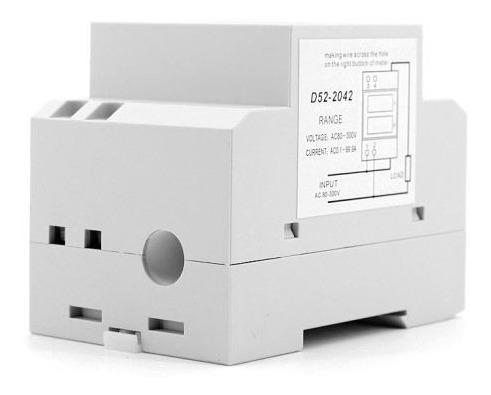 disjuntor voltímetro amperímetro led 80-300v 100a ac energia