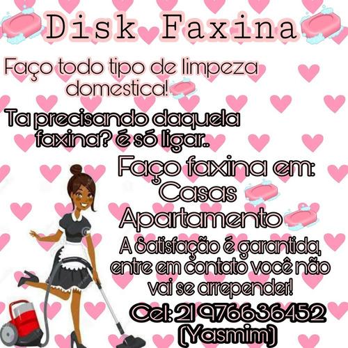 disk limpeza (faxineira) (diarista)