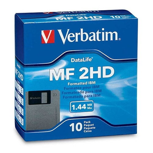 diskette 3 1/2 1.44mb verbatim caja x 10 unidades