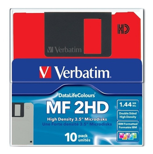 diskette verbatim caja x 10 unidades