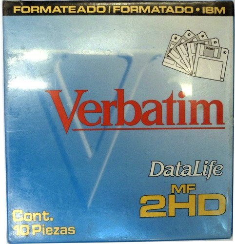 diskettes 3 1/2 caja cerrada. contiene 10 diskettes e+