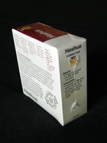 diskettes formatted 12- 3 1/2 hd  nashua nuevo caja cerrada