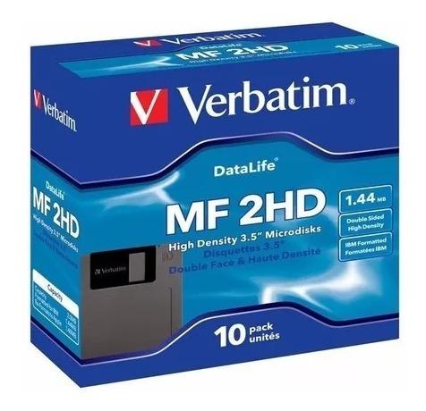 diskettes verbatim 3,5¨ 1,44mb caja cerrada x10  - san telmo