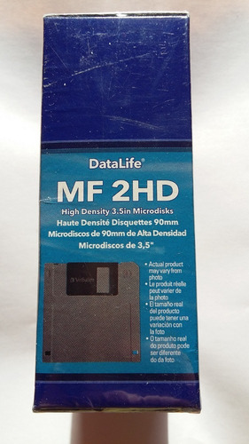 diskettes verbatim 3,5hd nuevos - caja cerrada. producto disponible.
