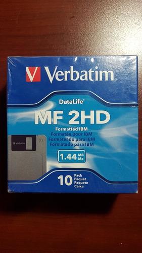 diskettes verbatim, pack 10 unidades