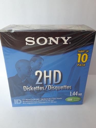 diskettes/disquettes sony 3 cajas x 10 unidades c/u nuevos