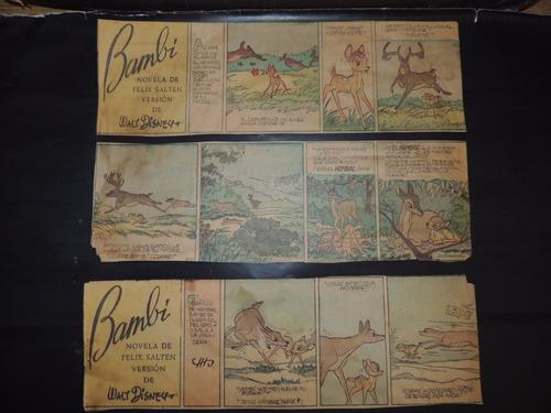 disney, bambi tiras dominicales 40's