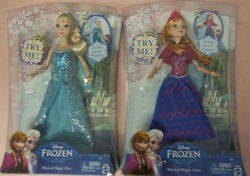 disney bonecas frozen elsa  anna musical - a pronta entrega