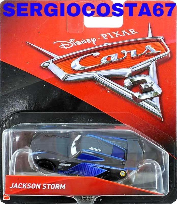 disney cars 3 jackson storm 300 modelos cars frete baixo r 69 49 em mercado livre. Black Bedroom Furniture Sets. Home Design Ideas