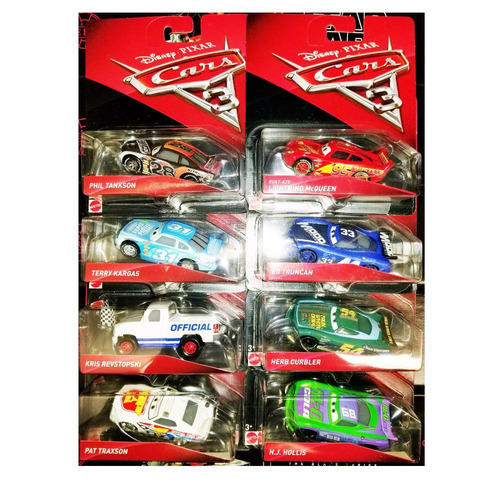 disney cars 3 trunkan curbler hollis traxson mcqueen rust