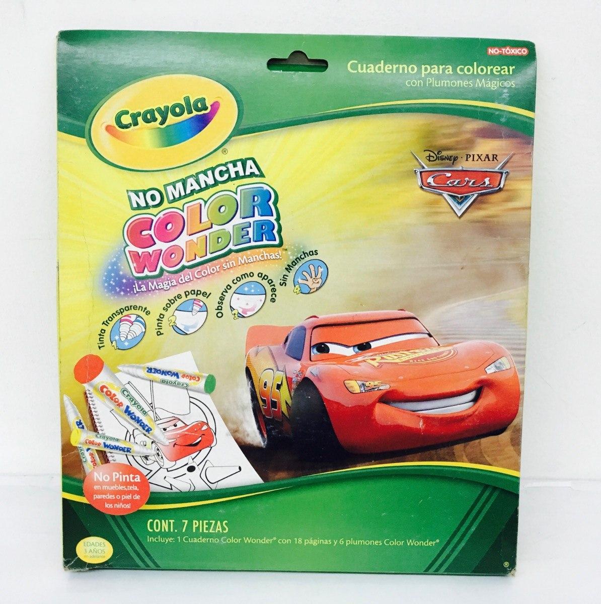 Disney Cars Cuadernos Para Colorear Crayola - $ 129.00 en Mercado Libre