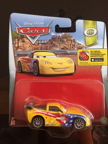 disney cars jeff corvette nuevo coleccionable