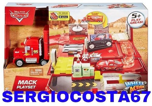 disney cars mack hauler caminhão do mcqueen playset oficina