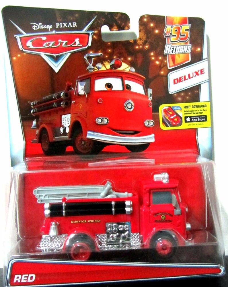 disney cars red bombero rojo deluxe mattel 2016 34900