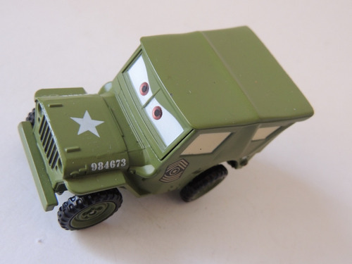 disney cars - sarge - jeep willys - mattel - 1:55  (s 38)