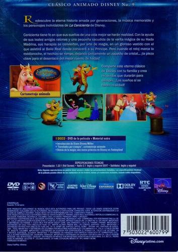disney clasicos la cenicienta 9 pelicula dvd