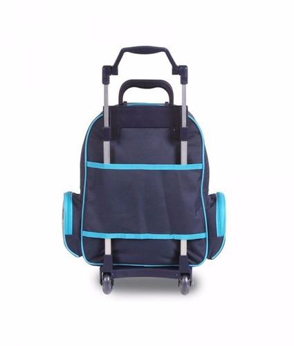 disney club penguin - mochilete c/ carrinho m - 51423