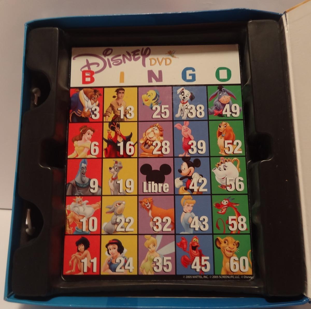 Disney Dvd Bingo Juego De Mesa Mattel 299 00 En Mercado Libre