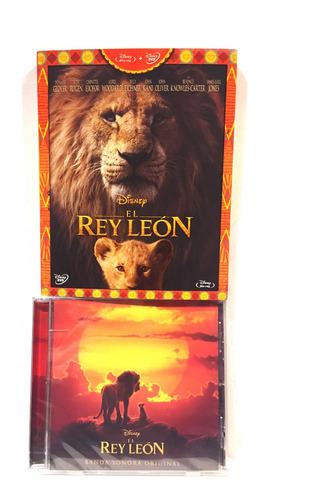 disney el rey leon bluray + dvd + cd  soundtrack nuevo