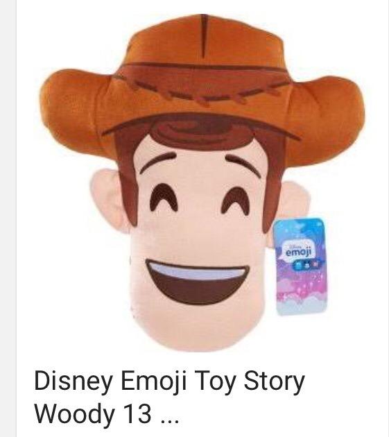 Disney Emoji Toy Story Buzz Woody Plush Cojines Peluche 13 ... 6a933839be3