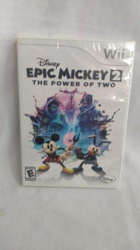 disney epic mickey 2 the power of two - nuevo y sellado -wii