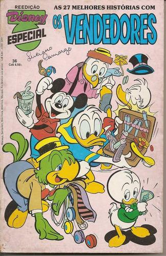 disney especial nº 36 os vendedores - reedição outubro 1986