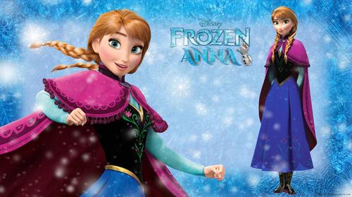 disney frozen ana disfraz vestido 2-4-6-8-10-12 años