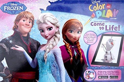 disney frozen color y play super activity libro de colorear
