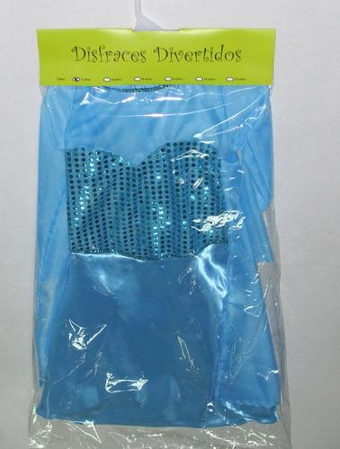 disney frozen elsa disfraz vestido 2-4-6-8-10-12 años