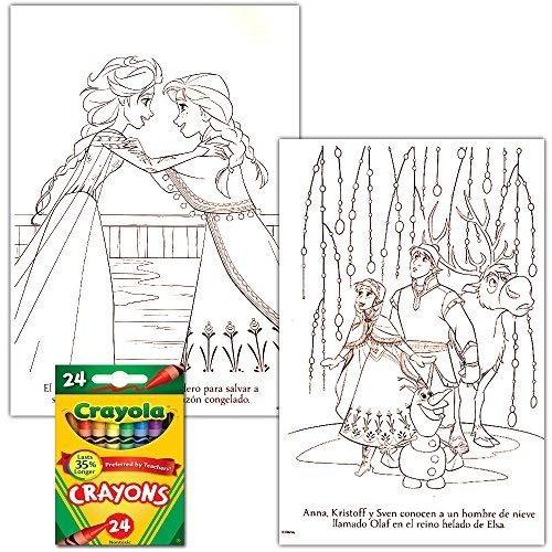 Disney Frozen Libro De Colorear Conjunto Con Lápices De ...